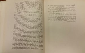text of Blind Love. It is a photo of the last two pages of the story.