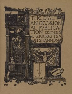 The Dial's fourth volume cover, 1896, from Internet Archive.com.