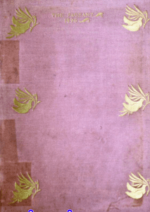 Purple cover, title in the middle; bookended by three gold doves on either side of the cover, carrying leaves.