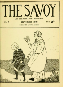 Cover of The Savoy volume 7. Published in November 1896.