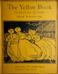 Images shows three women in dresses facing the left side of the cover. They appear to be walking in nature. The magazine title appears above the image. The colours used are yellow and black.