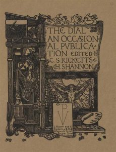 Cover design for the fifth volume of The Dial