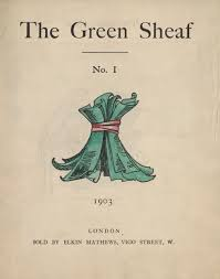 This is what The Green Sheaf's minimalist cover looked like for each volume, having only a span of one year of publication.