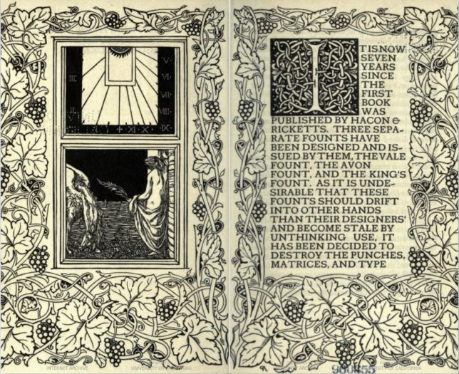 A two-page spread of a book, decorated with ornaments