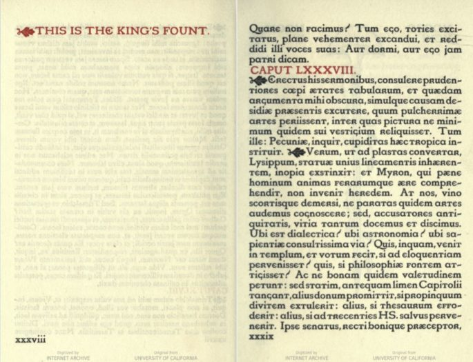 A two-page spread of a book, the right page in filler text